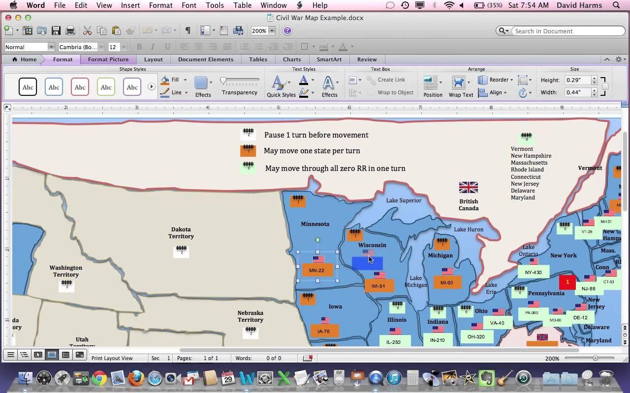 Civil War Simulation Lesson Plan Map Explanation