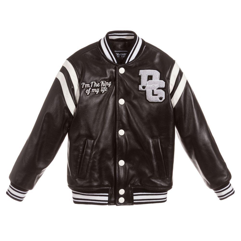 1deede742 Boys DG KING Leather Jacket