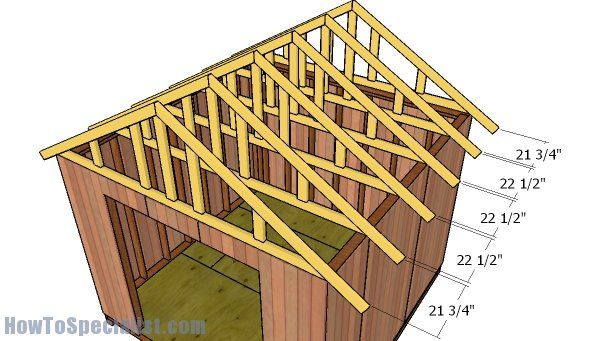 10x10 Gable Shed Roof Plans Howtospecialist How To Build Step By Step Diy Plans Shed Roof Building A Shed Building A Shed Roof
