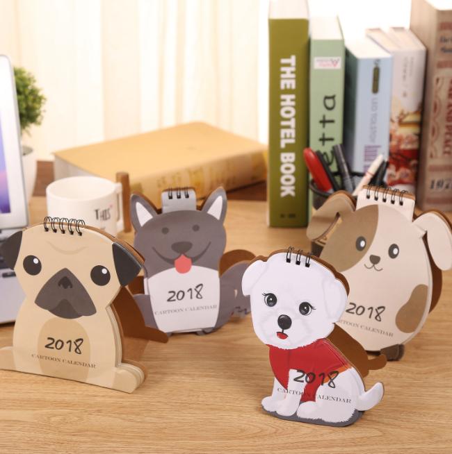 1 Sztuk/zestaw Nowy Piękny Pies Kalendarze na Biurko Biuro Szkolne 2018 Kalendarz Kalendarz 2018 Kalendarze