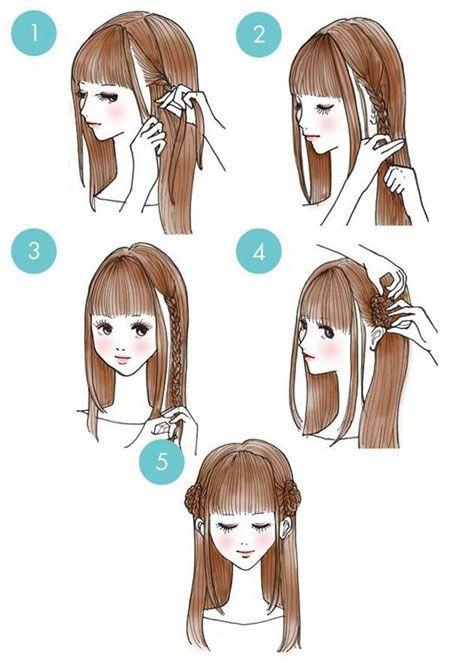Pricheska V Stile Anime Peinados Tutoriales De Peinados Peinados