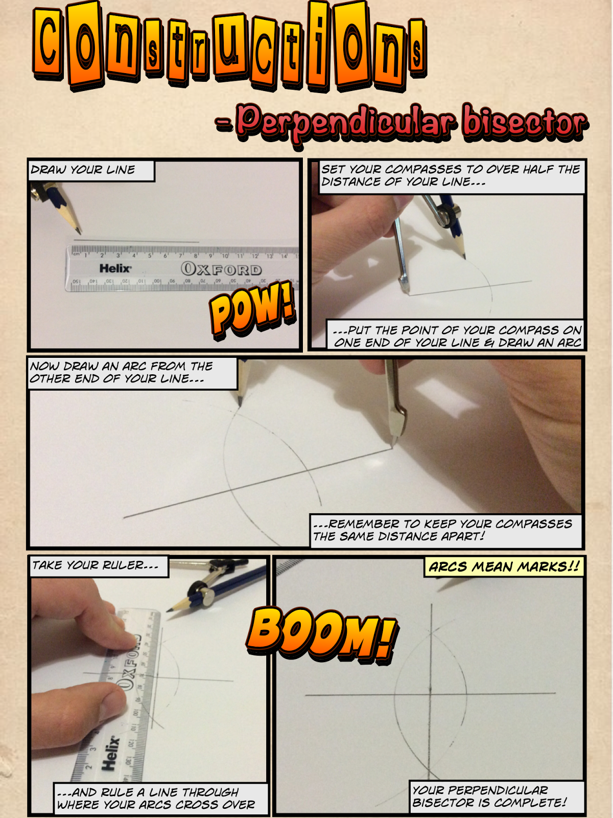 Mr Collins Mathematics Blog: Constructions resources using \'Comic ...