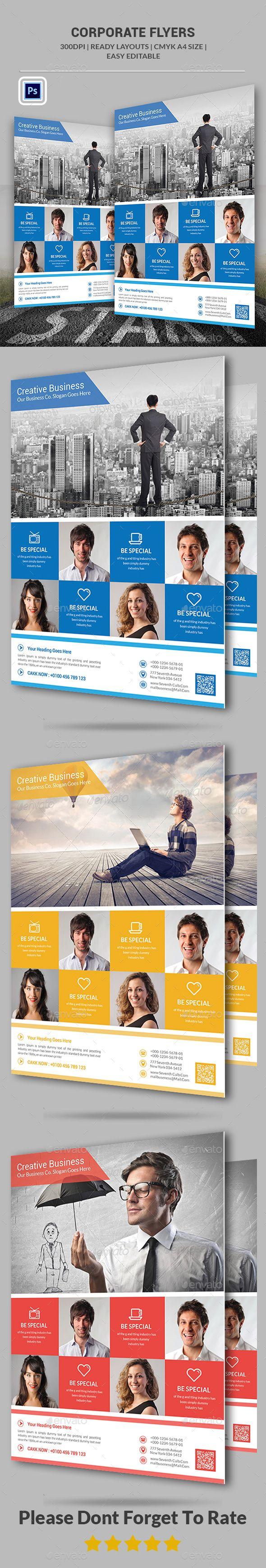 Corporate Flyer Template PSD #design Download: http://graphicriver.net/item/corporate-flyer/13688601?ref=ksioks