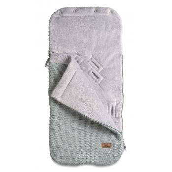 Strick Fußsack mit Plüsch \'Robust\' grau