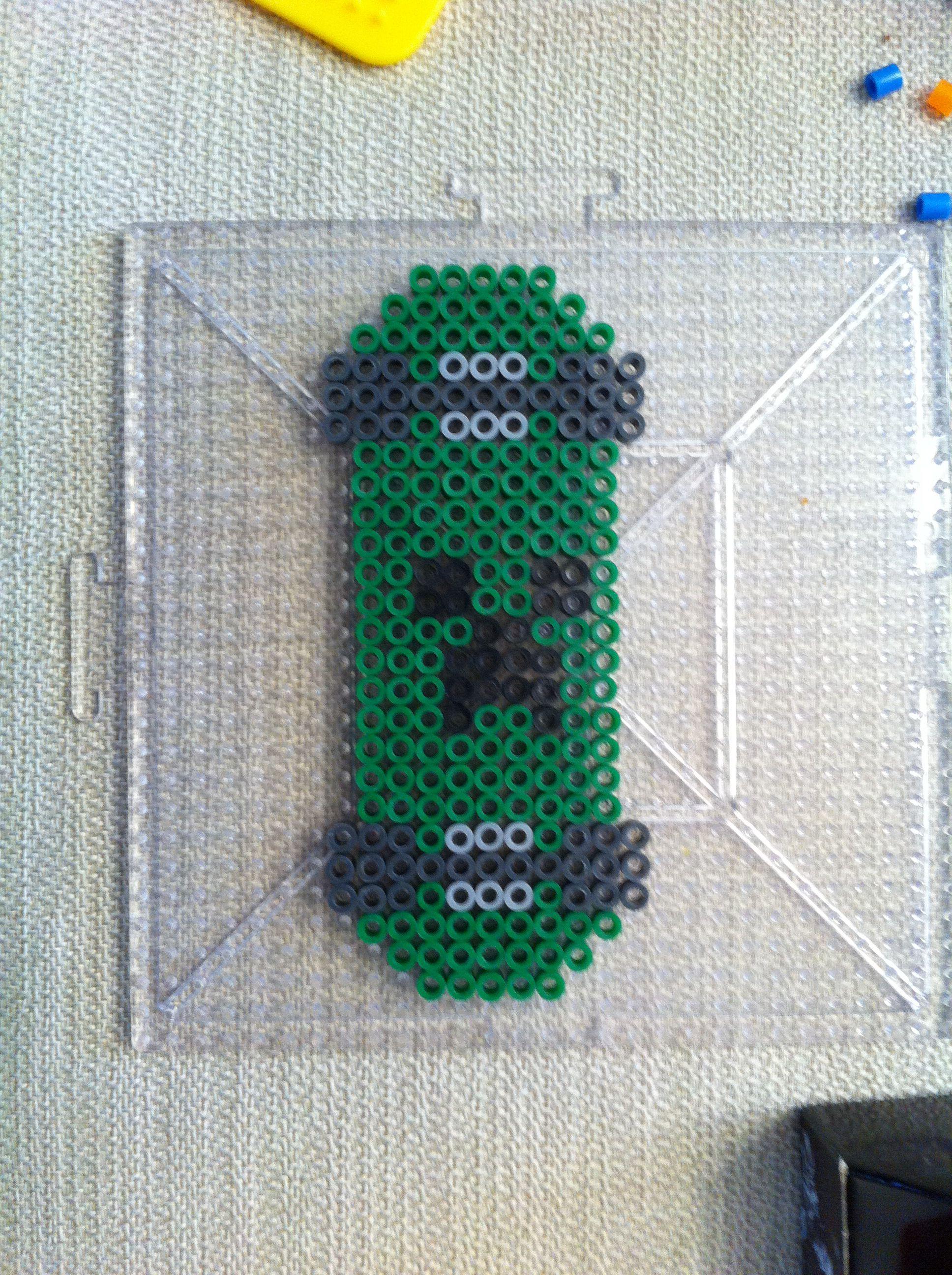 Minecraft Creeper Skateboard Perler Beads   Ideas for Joe ...