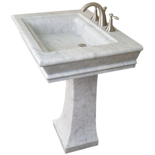 marble pedestal sink $1239 | Bathrooms | Pinterest ...