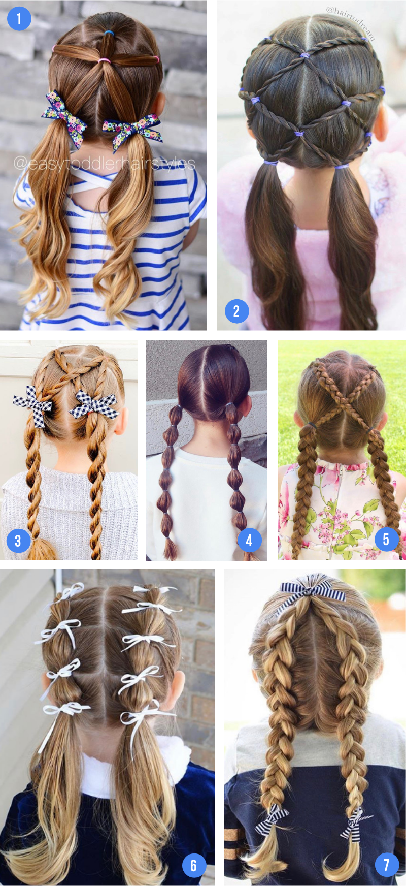 Easy Girls Hairstyles For Toddlers Tweens Teens Girls Hairstyles Easy Kids Hairstyles Girls Easy Little Girl Hairstyles