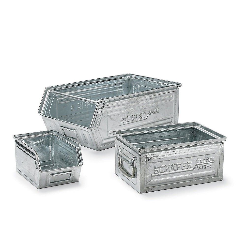 metal storage bins schaefer steel container 13x9x8 quot accessories bins 11076