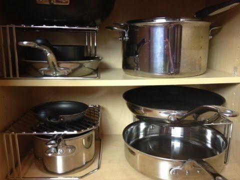how to organize pots pans lids kitchen organization kitchen hacks organization organization on kitchen organization pots and pans id=50588