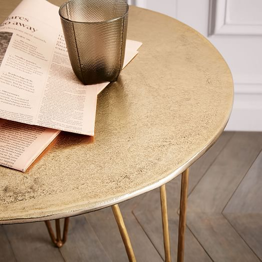 Brass Hairpin Side Table