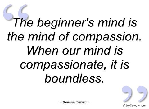 The beginner's mind is the mind of compassion. When our mind is ...