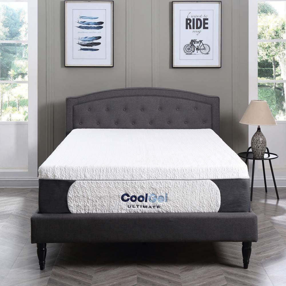 Classic Brands Cool Gel Ultimate Gel Memory Foam 14 Inch Mattress Cool Gel Mattress Adjustable Beds Twin Bed Mattress