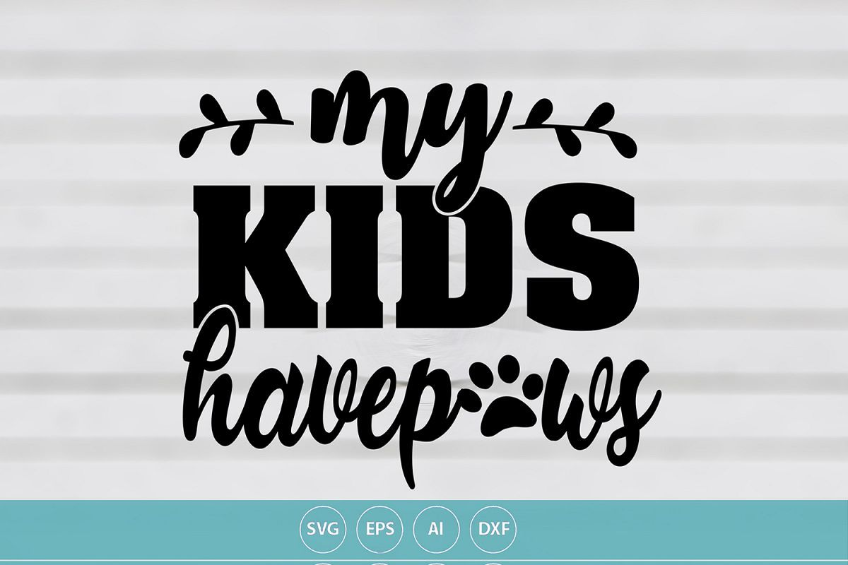 My Kids Have Paws. Afflink Card making stickers, School