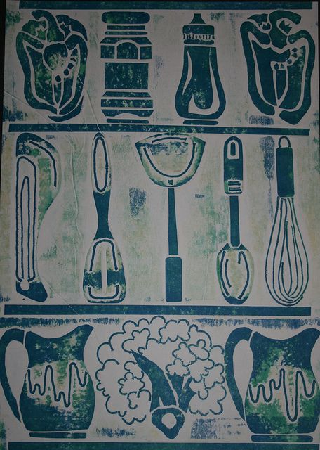 ◉ ⅯℹⅬ℮ℑ ℉®℺ⅿ ℍ℺Ⅿℇ ◉ | Everyday objects, Lino print, Relief print