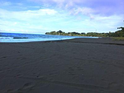 Playa Negra A Beautiful Black Sand Beach In The South Caribbean Of