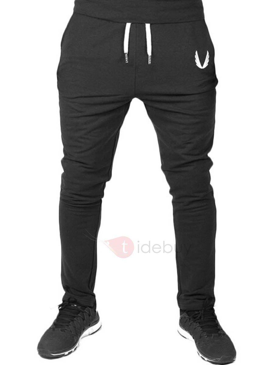 Pantalones Casual Cintura de Elásticos Estilo Deportivo Bodycon Empalme para  los Hombres 0110f5ca26d