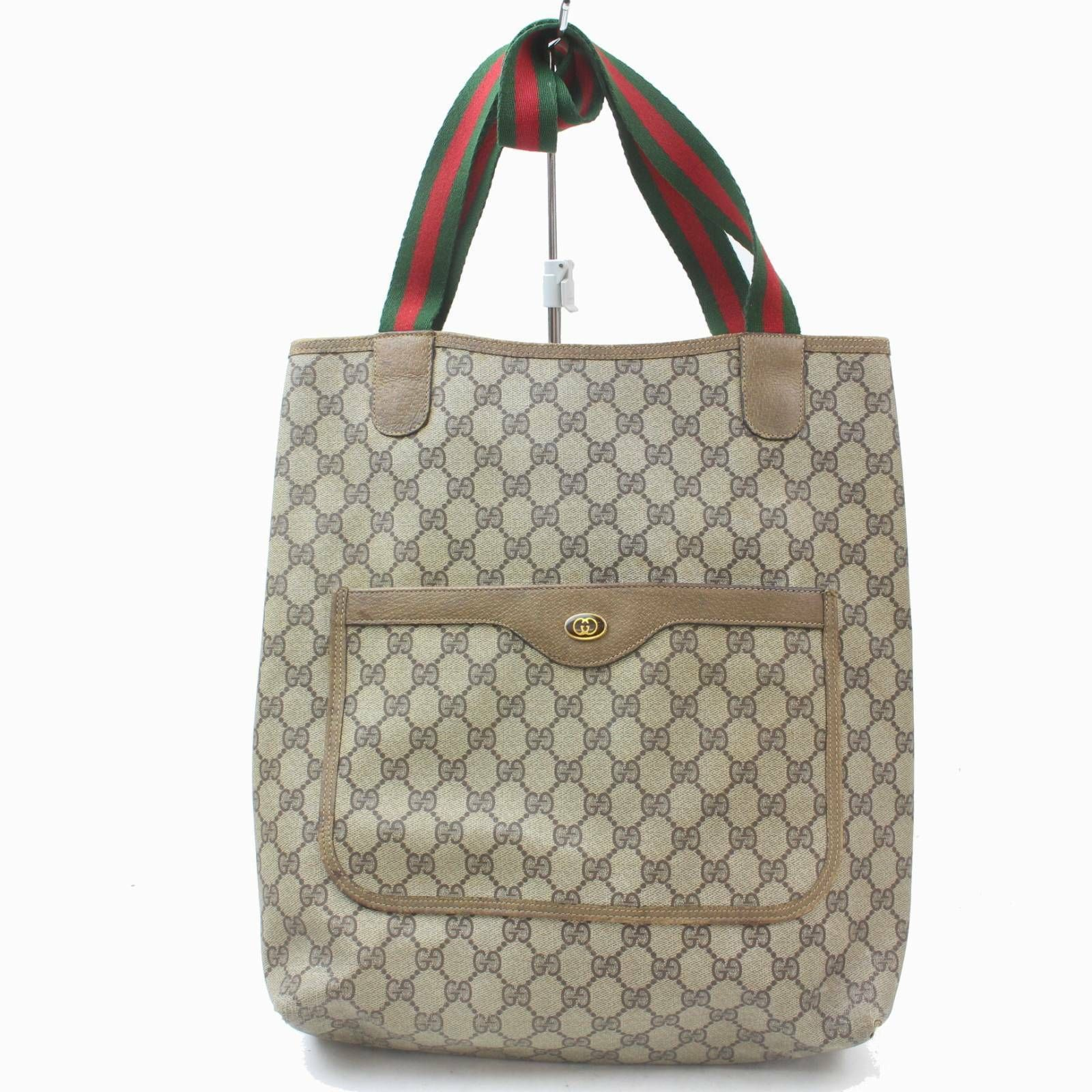 2d7930ef5e9a Details about Authentic Gucci Tote Bag Browns PVC 990138 in 2019 ...