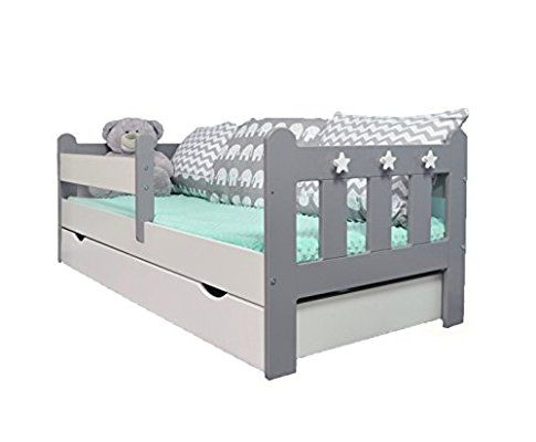 Stanley Toddler Junior Bed Grey Amp White Amazon Co Uk