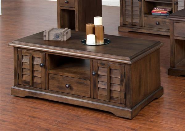 Sunny Designs Savannah Dark Brown Rectangle Coffee Table Coffee Table Rectangle Coffee Table Coffee Table Wood