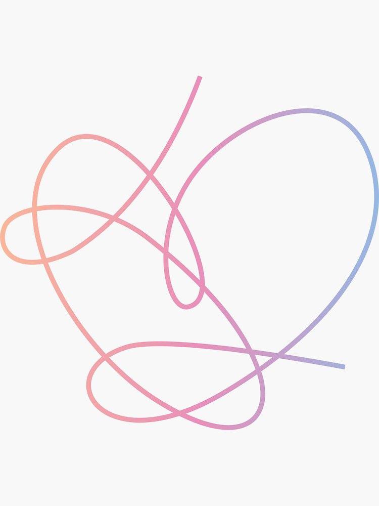 Bts Love Yourself Answer Album Art Heart Sticker By Imgoodimdone