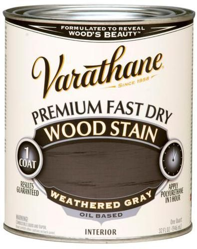 Varathane® Premium Weathered Gray Fast Dry Wood Stain - 1 qt at ...