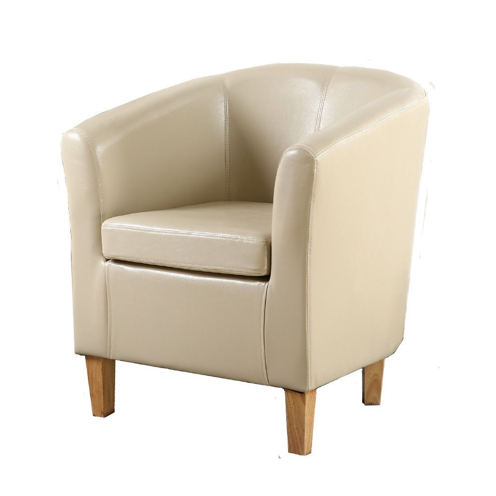 H4home Vintage Tub Chair Armchair Pu Leather Living Room Office