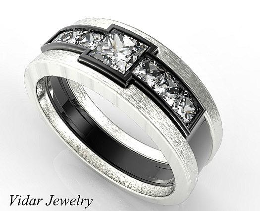 Men Wedding Band Unique Wedding Bands Black Gold Wedding Ring Etsy In 2020 Black Gold Wedding Rings Diamond Wedding Bands Mens Gold Wedding Band