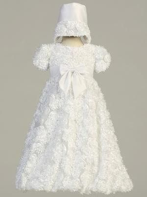 cc3732c6fba8 Daisy Baby Girls Ribbon Tulle Christening Baptism Gown