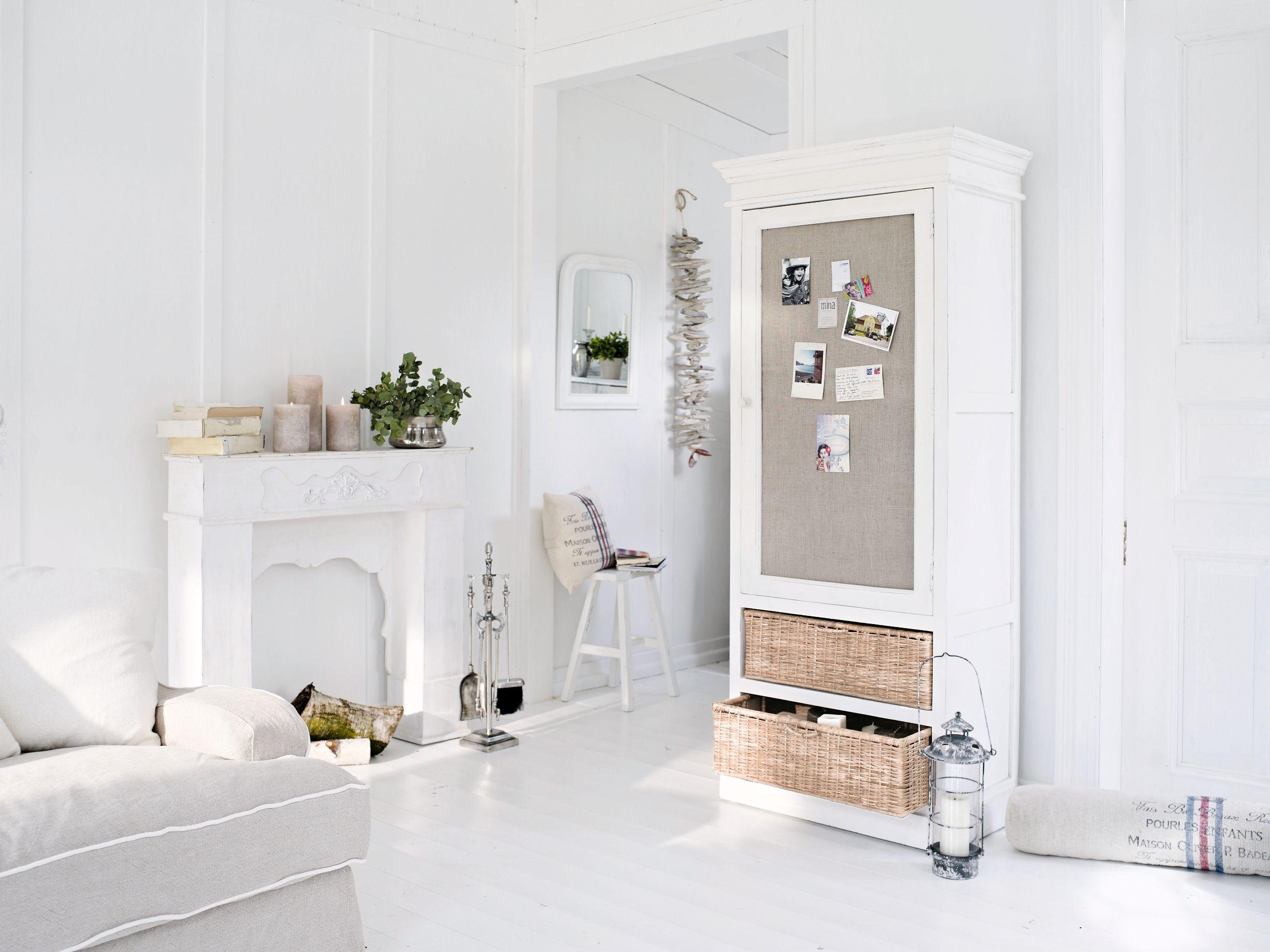 Schrank East Hampton loberon Wohnzimmer Diele weiss white ...