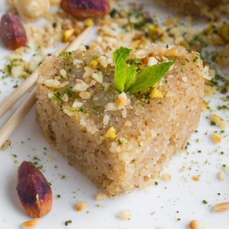 حلى السميد على الطريقة التركية مطبخ سيدتي Recipe Arabic Food Recipes Food