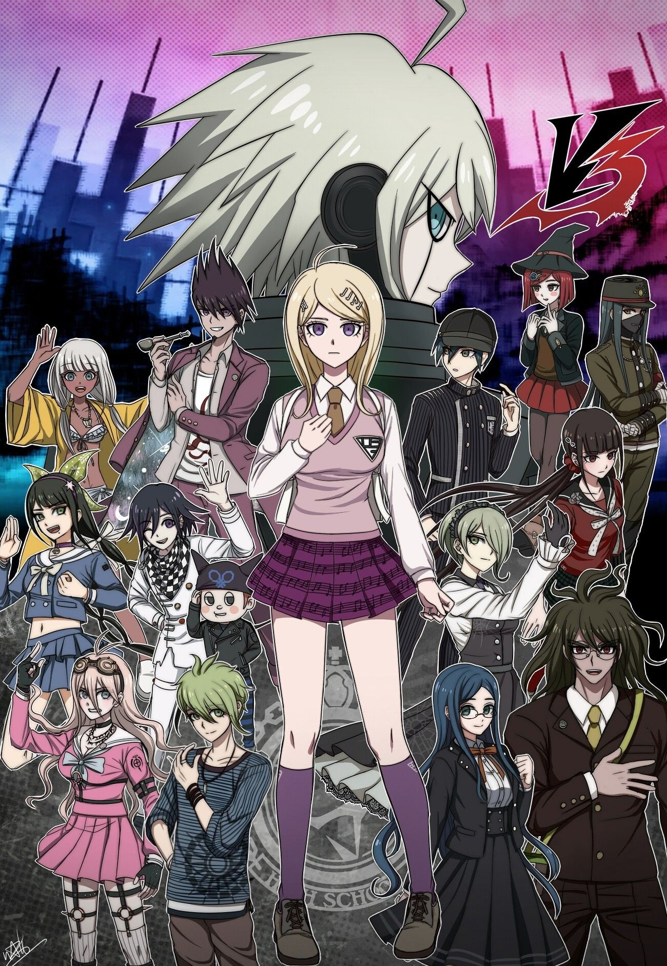 Behold the legendary V3 cast!! Danganronpa, Anime