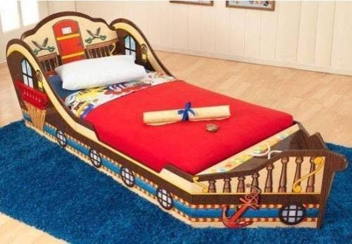 Pirate Toddler Bed With Storage Ship Boat KidKraft Bedroom Furniture ...