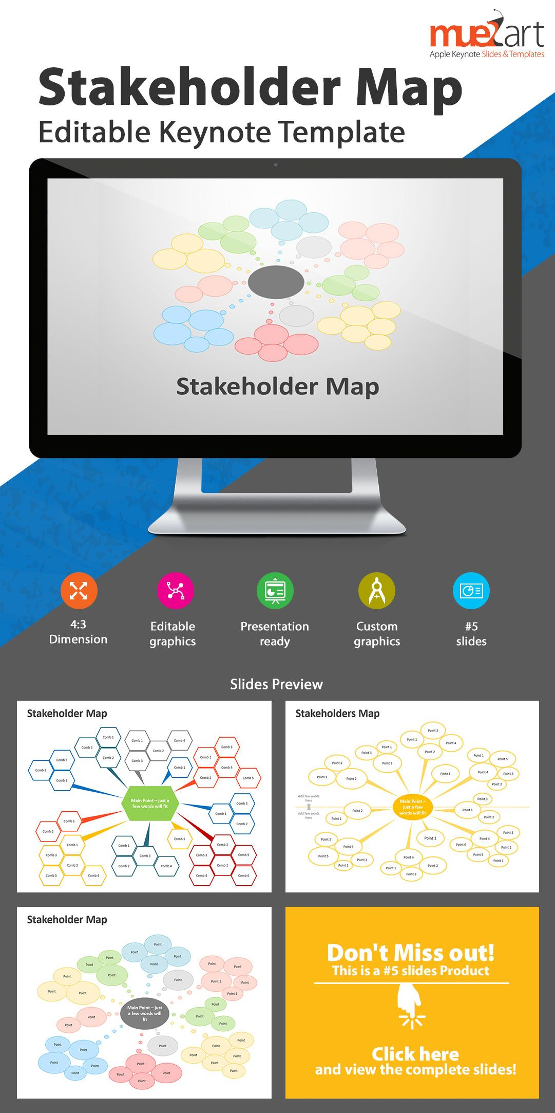 Stakeholder Maps Editable PowerPoint Templates