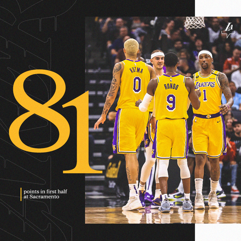 81 Points In The First 24 Minutes C Lakers In 2020 Sports News Sports Sports Jersey