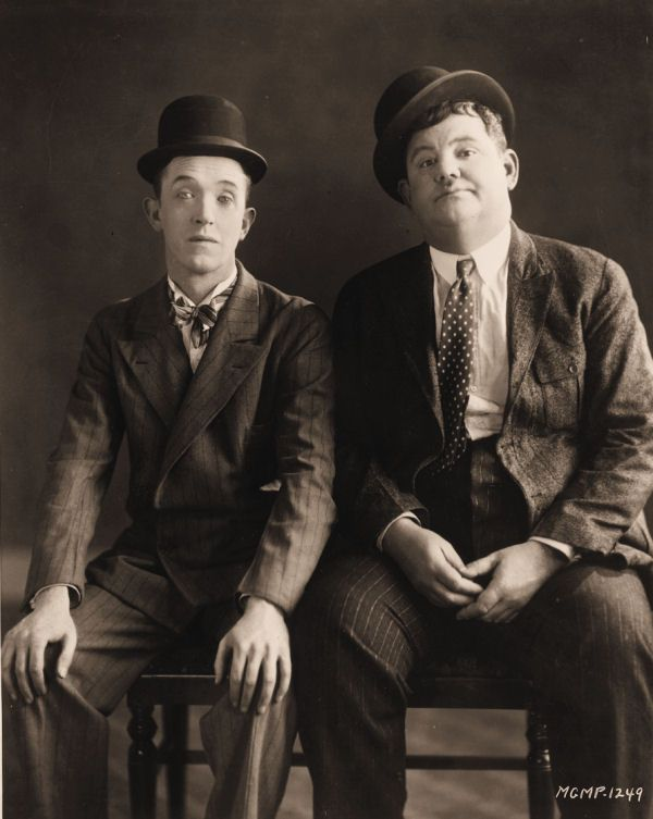 Laurel and Hardy. There was a time in the UK when school holidays would bring a host of Laurel and Hardy films on TV. Not so these days, maybe TV programmers think kids have moved on. Sad really but I wouldn't be too sure about that. On a different note; they call Chaplin a genius but I've never really laughed out loud at his stuff. These two guys though: I can't stop laughing!