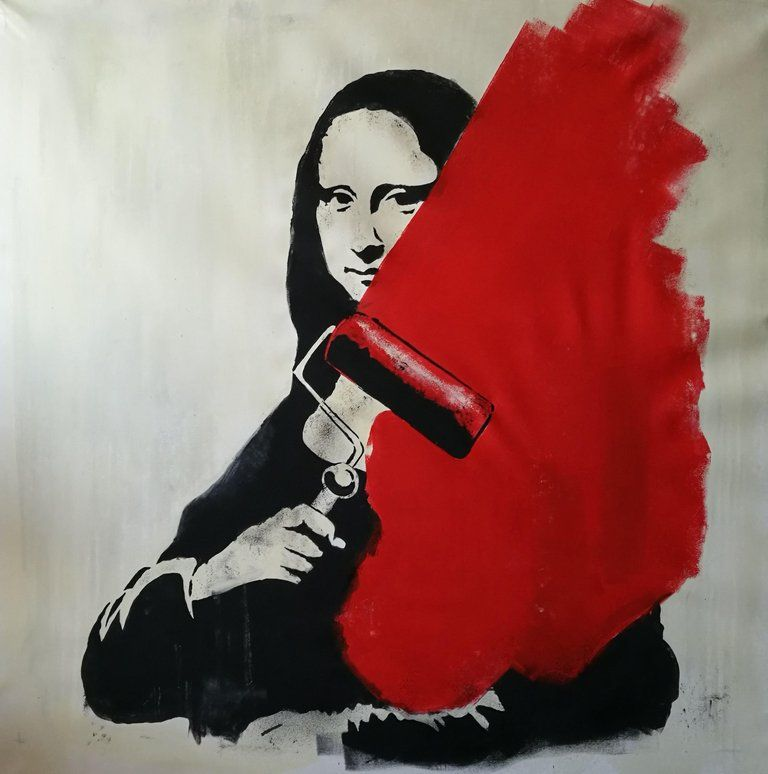 Rinalds Vanadzins - Mona Lisa, Painting, Acrylic on Canvas