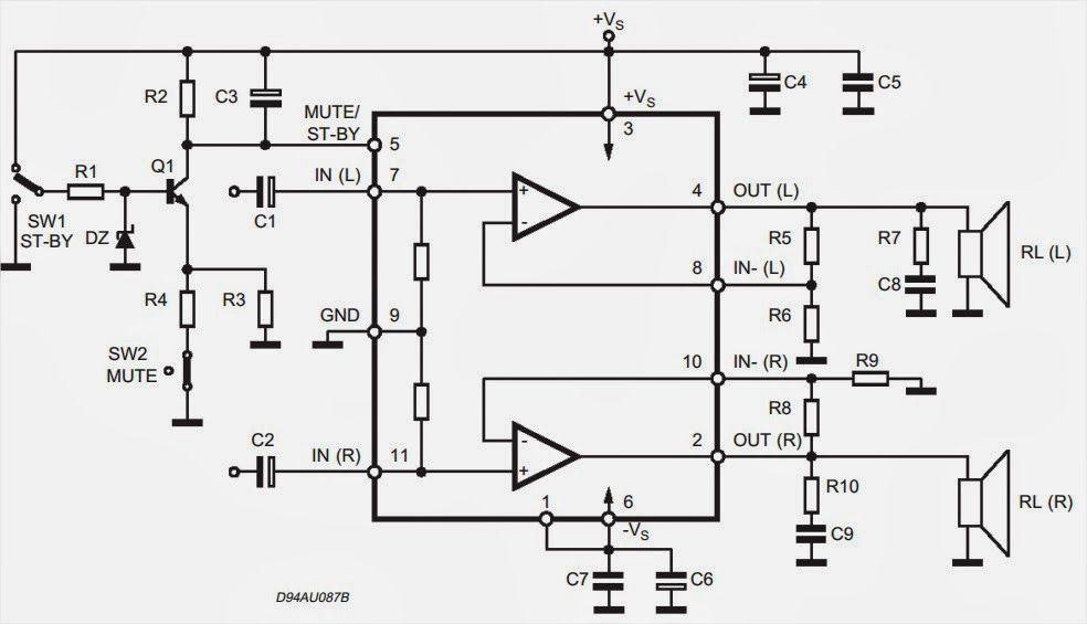 tda7265 subwoofer circuit diagram ~ amplifiercircuits com