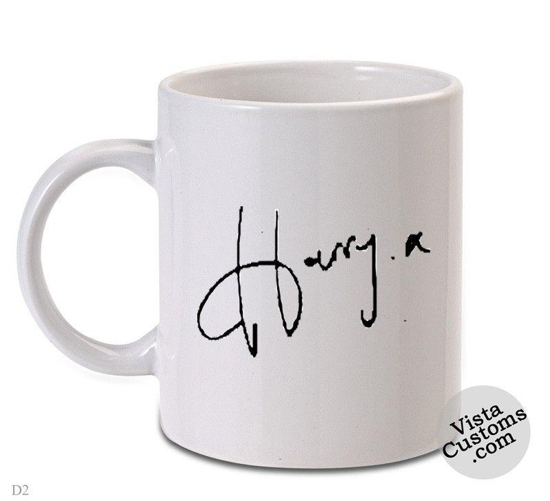 Harry Styles Signature Coffee Mug Coffee Mug Tea Design