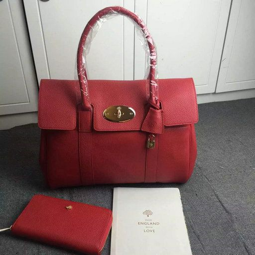 2016 Mulberry Bayswater Tote Fiery Spritz Small Classic Grain Mulberry Bag 81b84457f8604