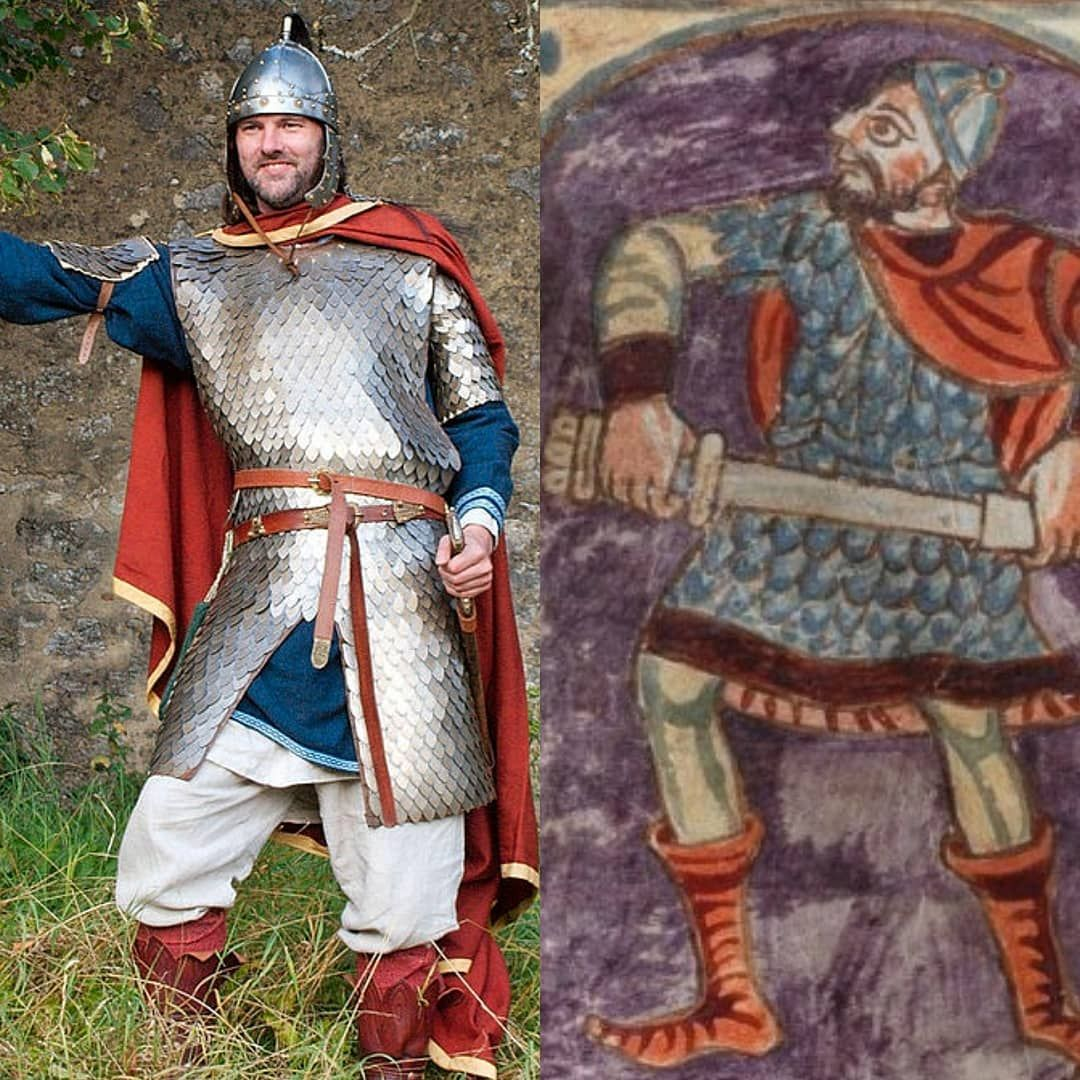 Ironskin On Instagram Carolingian Warriror In Scale Armor In This Picture Stefan Erdenkaufer Presents Us A Carolingian Noble Carolingian Armor Medieval Armor