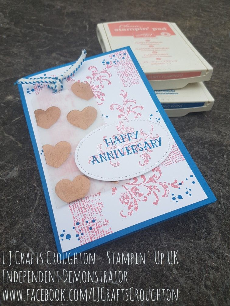 Anniversary card combining the old (timeless textures) and the new ...