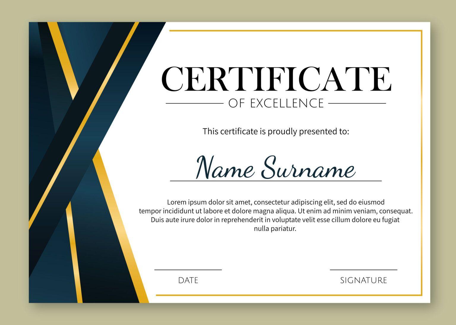 template certificate certificado excellence templates sample vetor printable piagam professional certificates certificaat modelo urkunde gratis vecteezy participation kostenlos achievement word