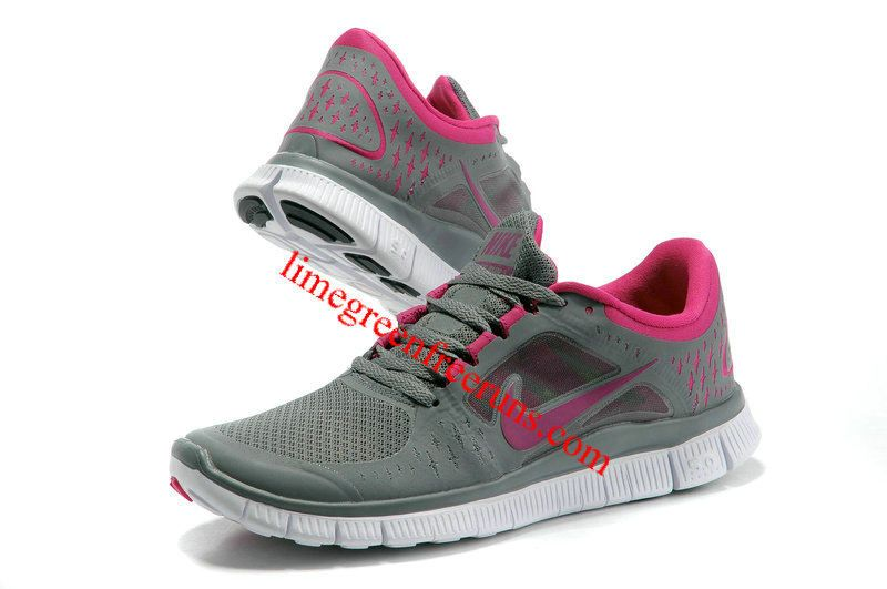sports shoes fe549 cfeaa 2012 Nike Free Run 3 Women Pink Gray [Lime Green Free Runs ...