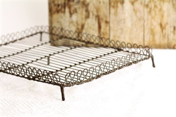 Antique Cake Cooling Rack French Wire Vintage By Crolandco