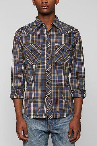 Salt Valley Hayward Plaid Western Shirt  - Urban Outfitters