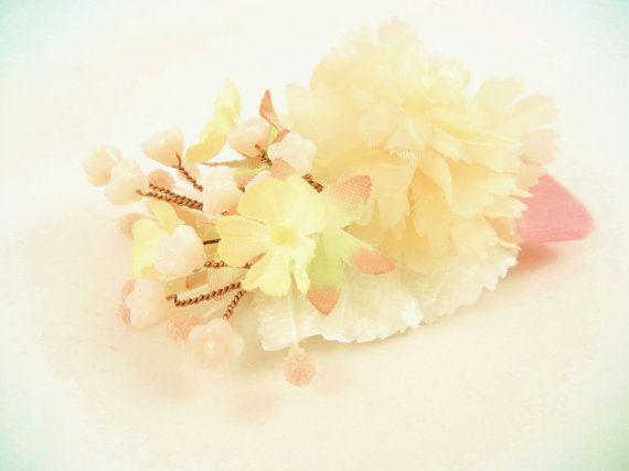 AMELIA+Vintage+Bead+Embellished+Flower+Hair+Clip+by+ZoeGraceBlooms,+$23.00