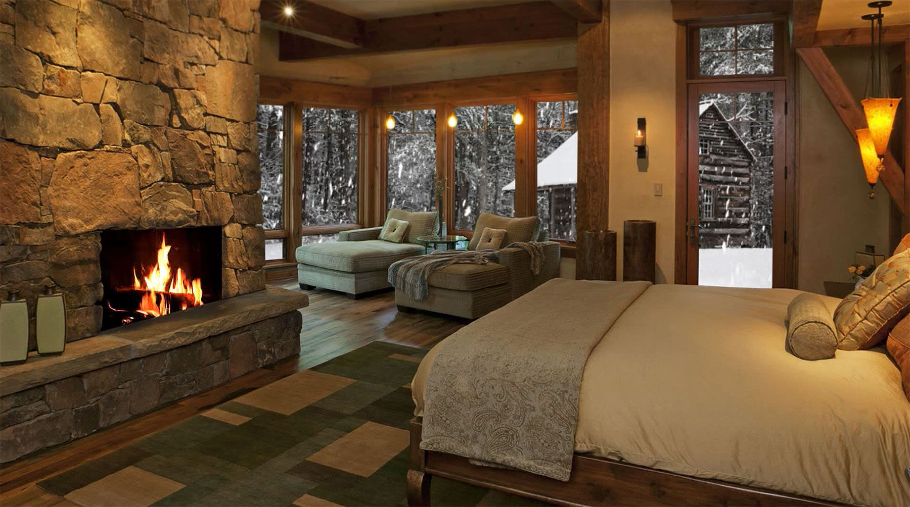 Beautiful Bedroom With View Of Snow My House Of Dreams