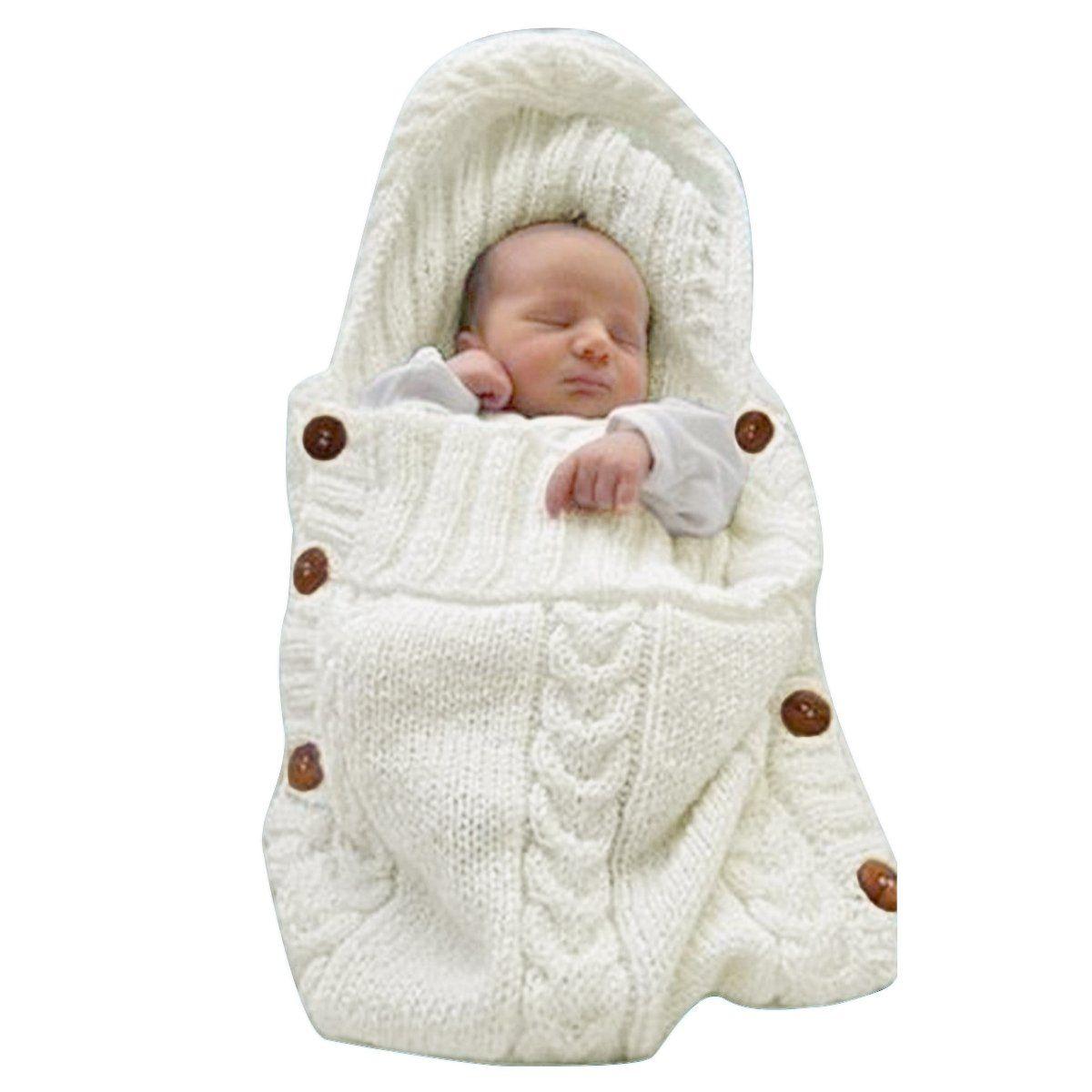 Baby Girl Boy Wrap Swaddle Blanket Knit Sleeping Bag Sleep Sack for 0-12 Month