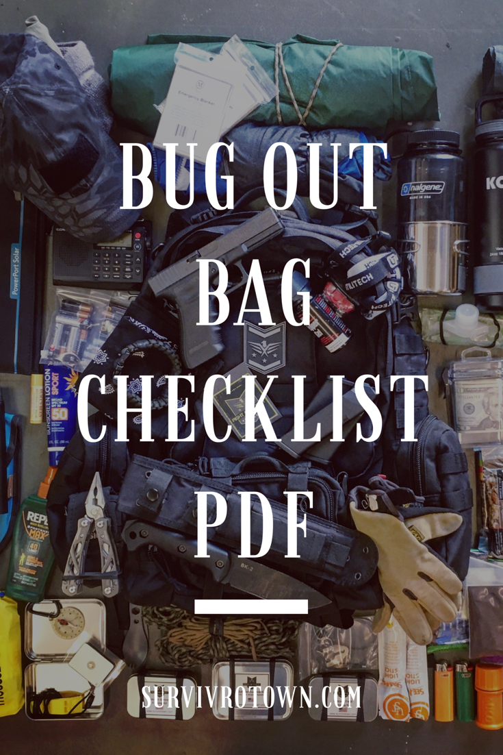 bug out bag checklist pdf free download now bugoutbag gethomebag prepper shtf survi val. Black Bedroom Furniture Sets. Home Design Ideas