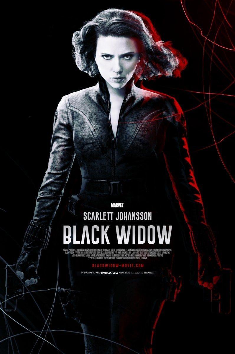 Scarlett Johansson BLACK WIDOW 2020 Poster A1 - A2